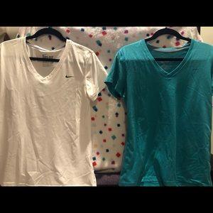 Nike v neck dry fit shirts